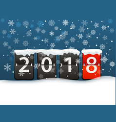 happy new 2018 greeting card template vector image vector image
