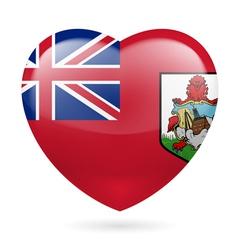 Heart icon of Bermuda vector