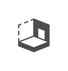 House 3d modeling icon and architectural concept vector