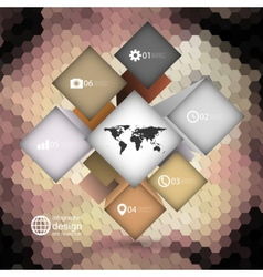 Infographic template for business design hexagonal vector image