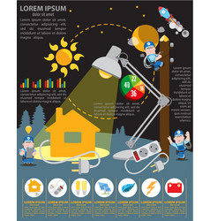 Infographics energetics energy industry vector