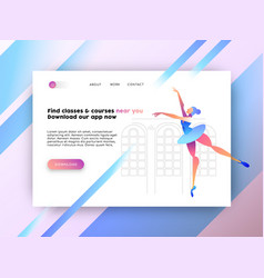 internet web app landing page for online website vector image