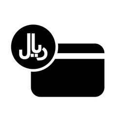iran rial credit card icon vector image