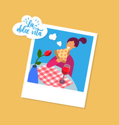 la dolce vita translated from italian the sweet vector image