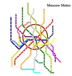 Map metro subway vector