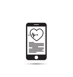 mhealth concept with smartphone and red heart vector image