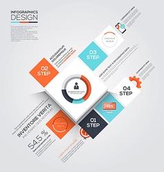 Minimal infographics 3 vector image