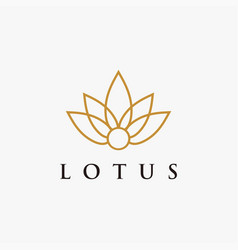modern minimalist elegance lotus flower logo icon vector image