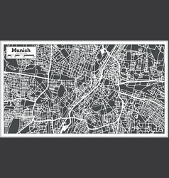 munich germany city map in retro style outline map vector image