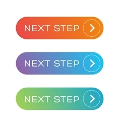 Next step colorful button set vector image