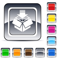 package square button vector image