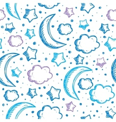 pattern with night sky vector image