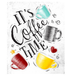 Poster coffee time vector