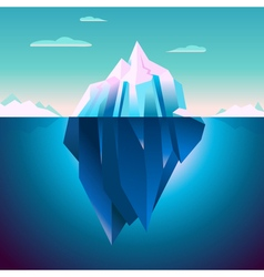 Quarz iceberg serenity lowpoly dream vector