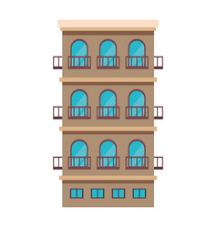 Residential building isolated vector