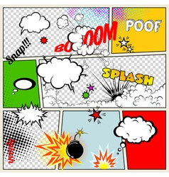 Retro Comic Speech Bubbles vector