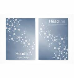 scientific brochure design template flyer vector image