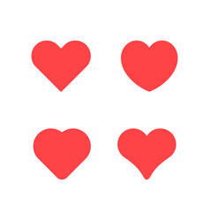 set icons heart and love concept vector image