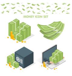 Set money icons vector