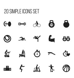 set of 20 editable active icons includes symbols vector image