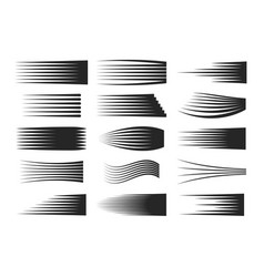 set of speed black lines vector image