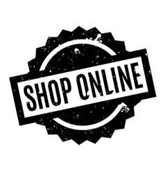 Shop online rubber stamp vector