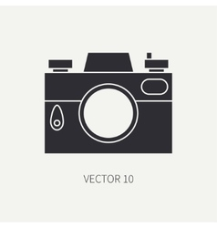 Silhouette flat icon with retro analog film vector image