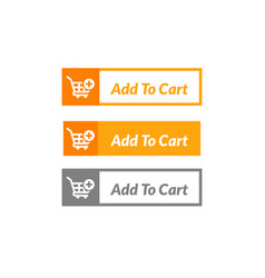 Simple design add to cart button online shop vector