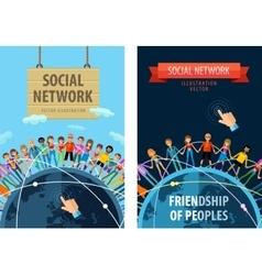 social network logo design template vector image