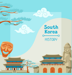 South korea history korean banner design with vector