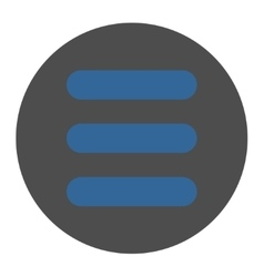 Stack flat cobalt and gray colors round button vector