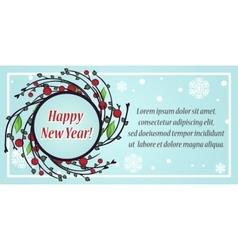 Stylish festive greeting card vector image vector image
