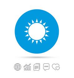 Sun icon sunlight summer symbol vector