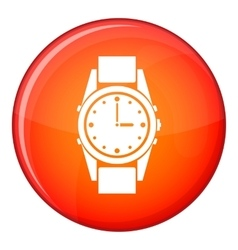 Swiss watch icon flat style vector