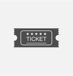 ticket icon in old vitage style vector image