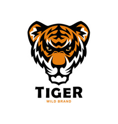 tiger head mascot wild tiger vector image