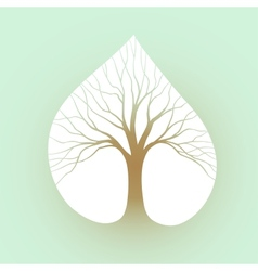 Tree symbol vector image