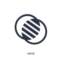 Unite icon on white background simple element vector