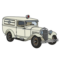 Vintage ambulance vector
