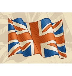 Vintage British Flag vector image