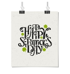 Vintage typographic poster for St Patricks Day vector image