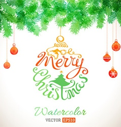 Watercolour christmas card vector