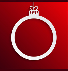 white circle christmas tree toy new year vector image