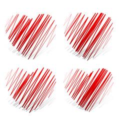 zigzag hearts vector image