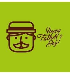 cartoon face father day vector image