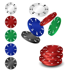 Poker chip set vector image vector image