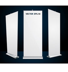 roll up banner exhibition display vector image vector image