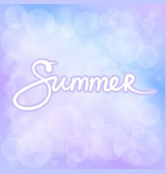 Summer lilac bokeh background vector
