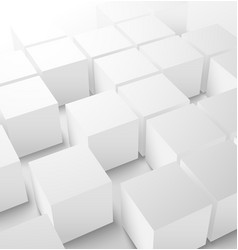 Abstract 3D cube background vector image