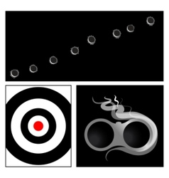 bullet hole and target vector image